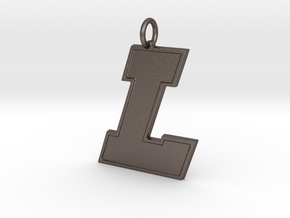 Lisbon L Pendant in Polished Bronzed-Silver Steel