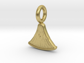 Small Papyrus charm in Natural Brass