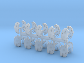 Fire Dragons shoulder pad icons x20 R in Smooth Fine Detail Plastic