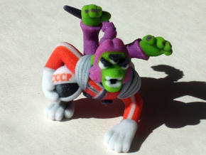 Space Monkey in Full Color Sandstone