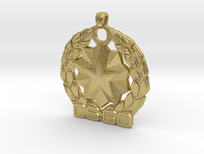 CS:GO Distinguished Master Guardian Pendant in Natural Brass