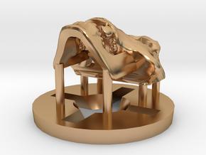 Predator Hominid Skull Pendant in Polished Bronze