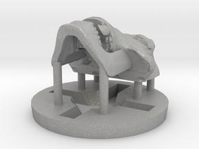 Predator Hominid Skull Pendant in Aluminum