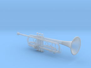 1/3rd Scale B Flat Trumpet in Smooth Fine Detail Plastic