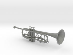 1/3rd Scale B Flat Trumpet in Gray PA12