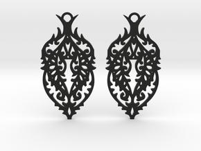 Thorn earrings in Black Natural Versatile Plastic: Small