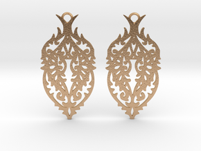 Thorn earrings in Natural Bronze: Small