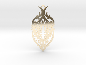 Thorn pendant in 14K Yellow Gold: Large