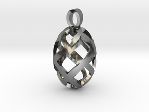 Seed openwork [pendant] in Polished Silver