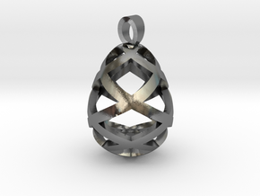 Egg openwork [pendant] in Polished Silver