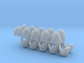 Death's Watch Shoulder Pads x20 #1 in Smooth Fine Detail Plastic