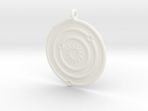 Astronomy Symboll in White Processed Versatile Plastic