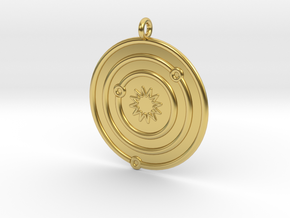 Astronomy Symboll in Polished Brass