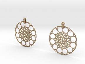 NMB3D Earrings in Polished Gold Steel