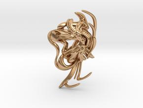 SOMAEXTATIC Large Statement Ring.stl in Polished Bronze