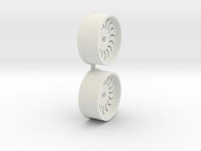 Offset-1,0-front-Sickl-Rims-MiniZ-AWD in White Natural Versatile Plastic
