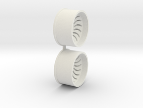 Offset-2,5-rear-Sickl-Rims-MiniZ-AWD in White Natural Versatile Plastic