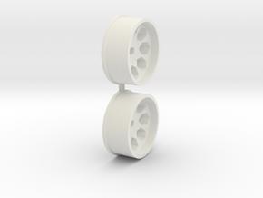 Offset-2,5-front-Polygon-Rims-MiniZ-AWD in White Natural Versatile Plastic