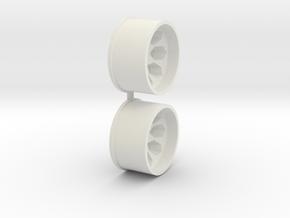 Offset-2,5-rear-Polygon-Rims-MiniZ-AWD in White Natural Versatile Plastic