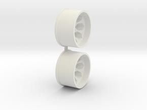 Offset-3,0-rear-Polygon-Rims-MiniZ-AWD in White Natural Versatile Plastic