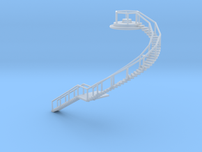 Spherical Ladder - N 160:1 Scale in Smooth Fine Detail Plastic