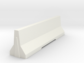 Jersey_Barrier in White Natural Versatile Plastic