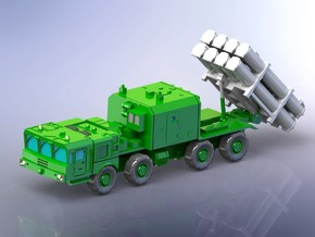 Russian BAL-E Coastal Missile System on MZKT 1/144 in White Natural Versatile Plastic