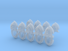 Commission 59 Gravus Shoulder Pads in Smooth Fine Detail Plastic