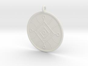 Cybernetics Symbol in White Natural Versatile Plastic