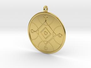 Cybernetics Symbol in Polished Brass