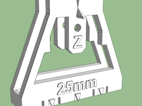 Track Gauge - Zx2 - 25mm in White Processed Versatile Plastic