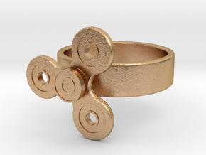 Fidget Spinner Ring in Natural Bronze (Interlocking Parts): 4 / 46.5