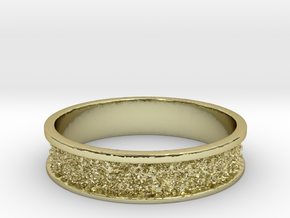 Elegant Texture Ring Size 7 in 18k Gold Plated Brass