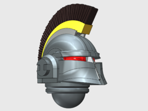 10x Crested - Ferrum Helmet in Smooth Fine Detail Plastic