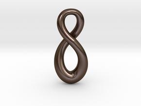 Infinity in Polished Bronze Steel: Medium
