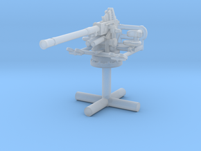 1/285 40mm Single Bofors [UnElevated] in Smooth Fine Detail Plastic