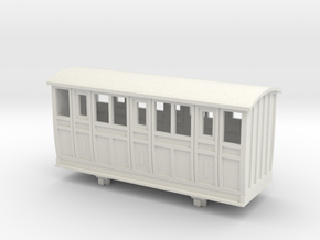 Bandai OO9 Scale Narrow Gauge Coach - Type 2 in White Natural Versatile Plastic