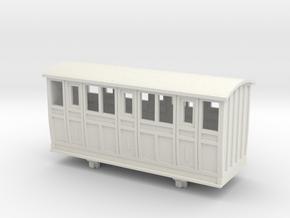 Bandai OO9 Scale Narrow Gauge Coach - Type 2 in White Natural Versatile Plastic