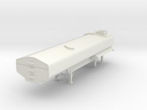 1/64  Diller 7250 Gal Manure Tanker Semi Trailer  in White Natural Versatile Plastic
