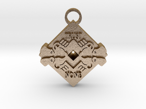 Trust None pendant 2 in Polished Gold Steel