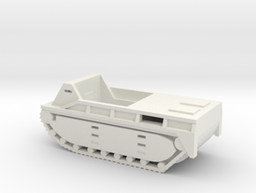 1/100 Scale LVT-1 Alligator in White Natural Versatile Plastic