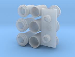 Delorean Eaglemoss Ato Mufflers in Smooth Fine Detail Plastic