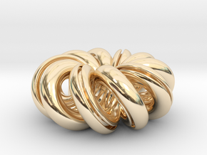 Infinite Steel in 14k Gold Plated Brass: Small