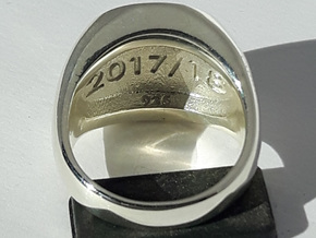 Champions Ring Size O. 17.5mm. Silver. in Polished Silver