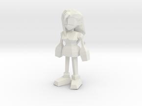 Final Fantasy 7 Tifa in White Natural Versatile Plastic: 1:8