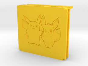 Switch game storage controller (Pikachu and Eevee) in Yellow Processed Versatile Plastic