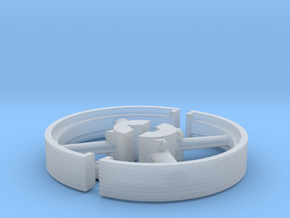 Split Grooved Pulley in Smooth Fine Detail Plastic