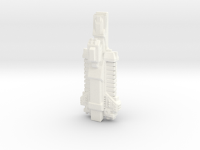 Malkorian Starship type 1 in White Processed Versatile Plastic