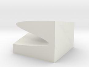 Catastrophe cusp model 20x20cm in White Natural Versatile Plastic