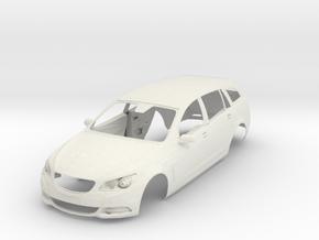 1;24 Holden Commodore VE Wagon in White Natural Versatile Plastic
